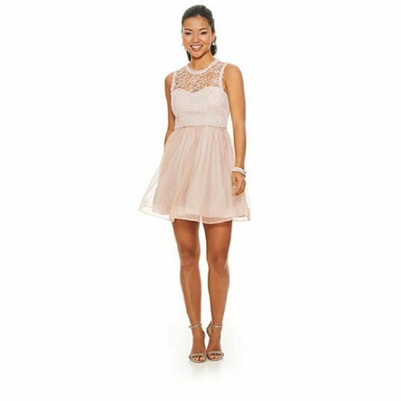 fe1ab5e4abe0 Sequin Hearts Dresses   Juniors Crochet Fit Flare Dress   Poshmark